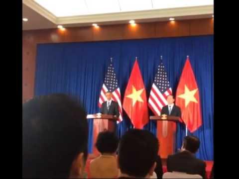 Video Họp báo giữa Tổng thống Mỹ Obama và Chủ tịch nước Trần Đại Quang