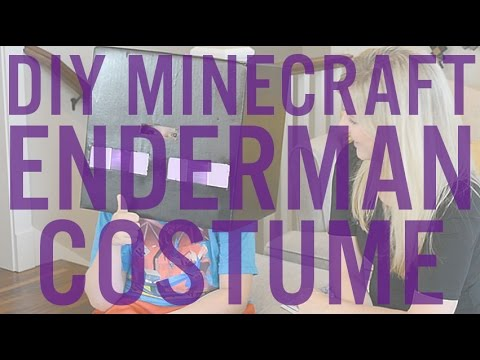 How To Light A Minecraft Enderman Halloween Costume Enchanted Sword