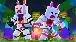 Funtime Foxy And Lolbit Stop The Zombie Apocalypse (Minecraft Fnaf Roleplay Adventure)