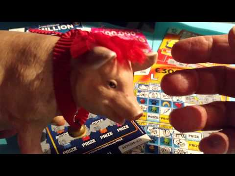Piggy..Your Wanted...Scratchcards..FAST 500..PAC-MAN..CASH WORD..Lucky LINES