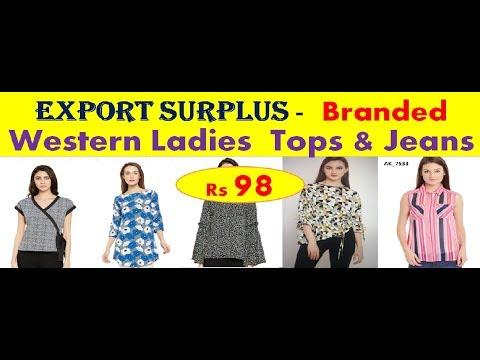 Branded Export Surplus - Western Ladies Garments - Wholesaler