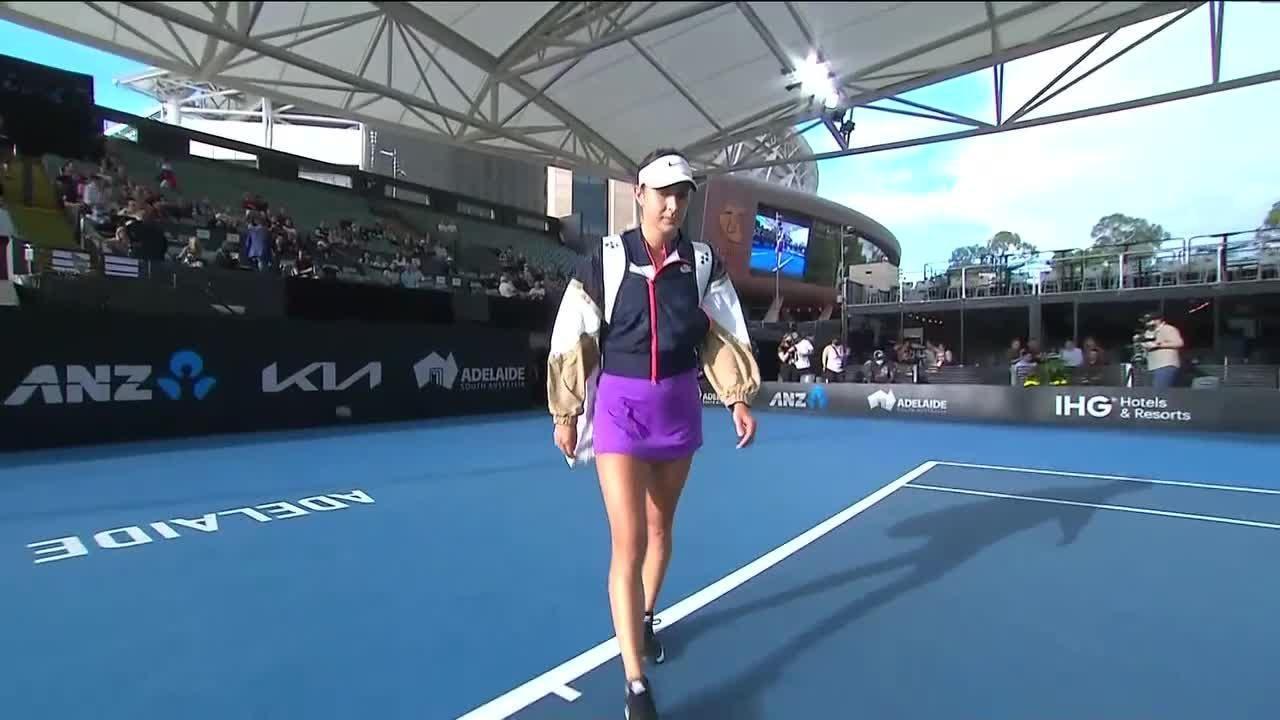 Coco Gauff vs. Belinda Bencic   2021 Adelaide Semifinals   WTA Match Highlights