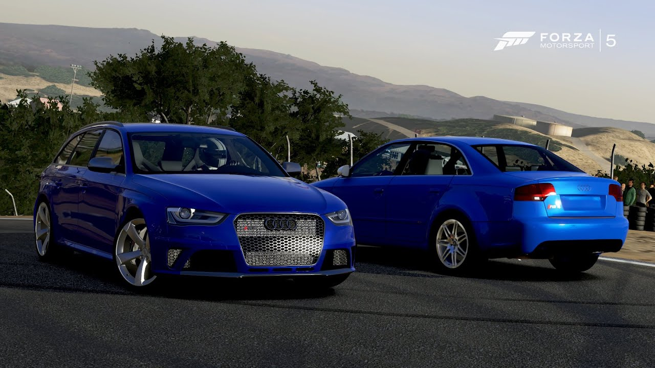 forza 5 2013 audi rs4 avant vs 2006 audi rs4 sedan 1. Black Bedroom Furniture Sets. Home Design Ideas
