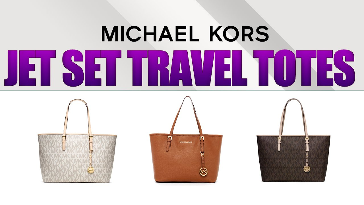 6531e0d845f855 Michael Kors Jet Set Travel Totes Review - YouTube