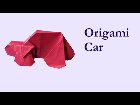 Origami Car/ Easy to make/ Kids activity