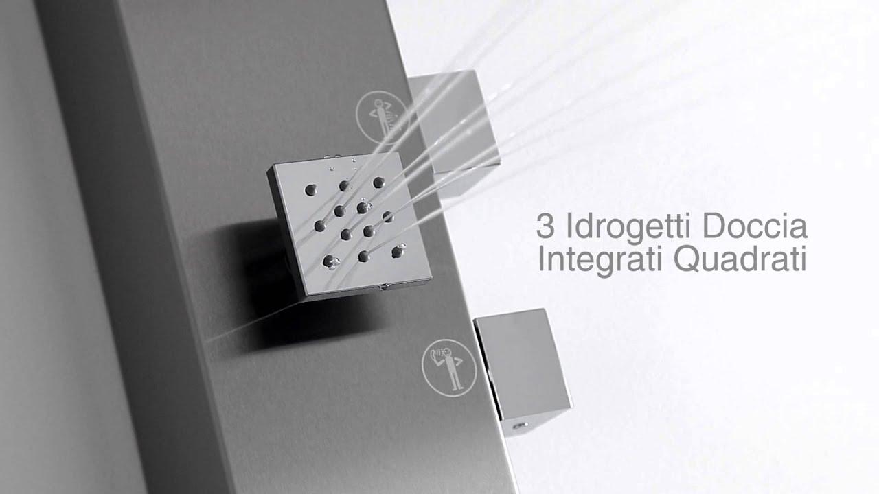 Colonna doccia as383 gleam idromassaggio soffione integrato hudson