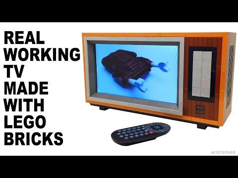 Real Working LEGO Television TV Set Custom MOC