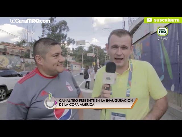 Canal TRO presente en la inauguración de la Copa América