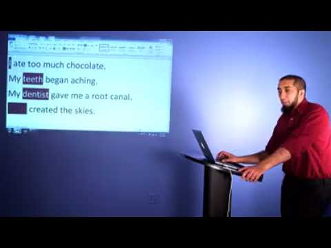 Introduction to Status Arabic with Husna Unit 1 Session 2 by nouman ali  khan bayyinah tv