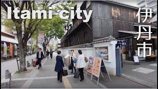 Walking Itami city (伊丹市) - JR Itami Sta., Hankyu Itami Sta. and Regidential area [4K] POV