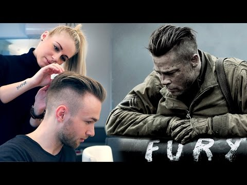 Brad Pitt Hair from FURY - Professional Guide - Men's Undercut