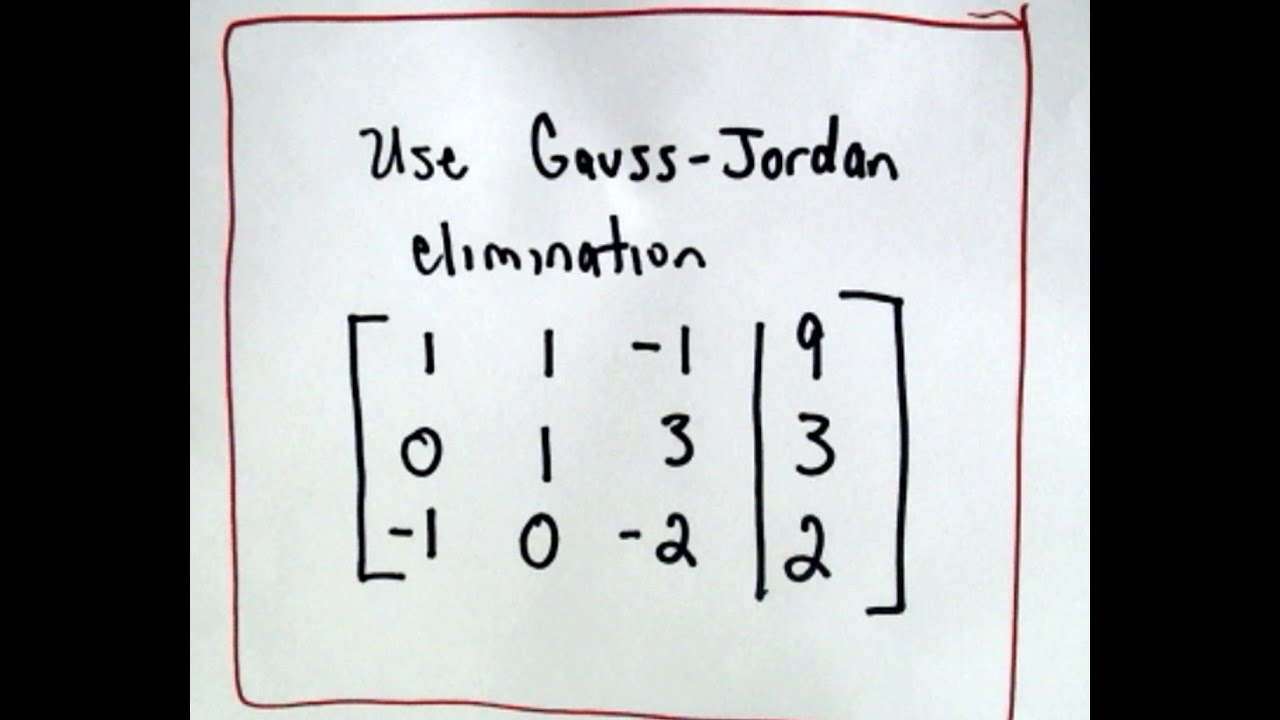 ❖ Gaussian Elimination ❖ on