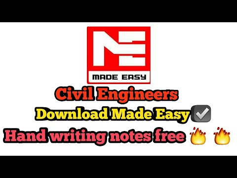 Download Free Civil Engineering Notes Made Easy Gate Notes