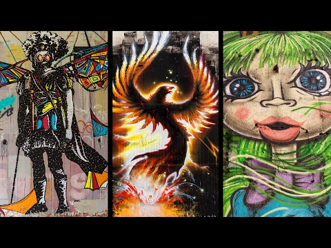Beautiful STREET ART in Abandoned Buildings - Graffiti Urbex Lost Places Compilation