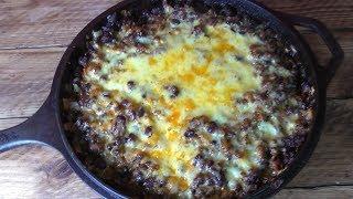 How To Make Cheesy Black Bean & Beef Taco Skillet - Recipe