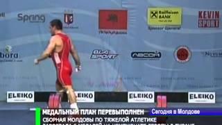 Сборная Молдовы по тяжелой атлетике завоевала 6 медалей на чемпионате Европы в Тиране