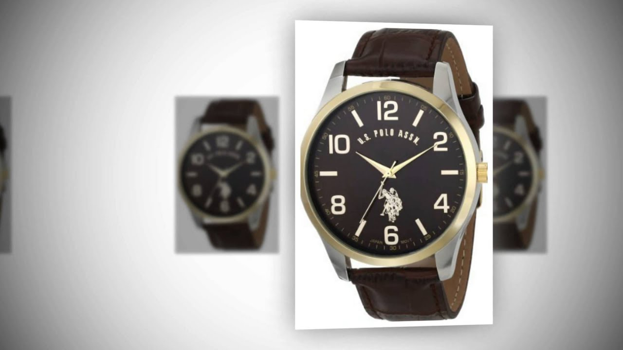 u s polo assn classic men s usc50225 watch brown leather u s polo assn classic men s usc50225 watch brown leather band