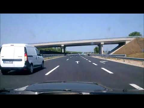 Roadtrip timelapse from Pécs to Komárom Hungary Via Hungarian Motorway M60, M6, M0 and M1