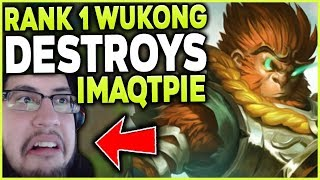 Download RANK 1 WUKONG WORLD 1V9 CARRIES AGAINST IMAQTPIE (DESTROYING QTPIE) - League of Legends Mp3 and Videos