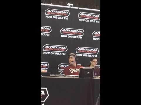 Aaron Hill interview on Arizona Sports @ DBacks fan fest 20