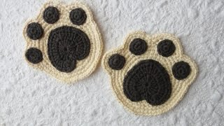 Подставка под чашку ч-1 Crochet paw coaster р-1