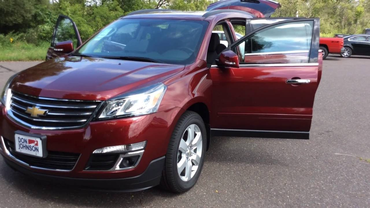 2017 Chevrolet Traverse 1lt Awd Red Youtube
