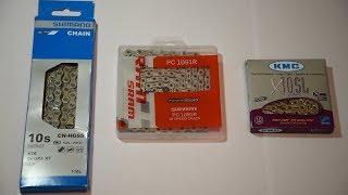 Топ-цепь Shimano vs SRAM vs KMC - первый взгляд
