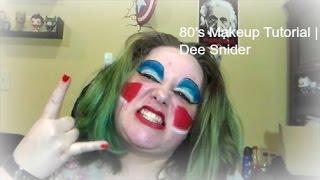 80's Makeup Tutorial   Dee Snider   Geeks and Beauties Collab   VEDA #17