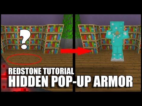 Minecraft: Completely Hidden Pop up Armor Stand!