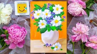 Как нарисовать вазу с цветами - урок рисования для детей от 5 лет, натюрморт, рисуем дома поэтапно