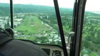 Flying over Longview and Kelso, Washington