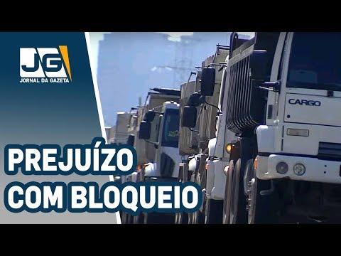 Comércio calcula prejuízo com bloqueios de caminhões