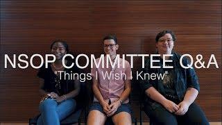 "Q&A : ""Things I Wish I Knew"""