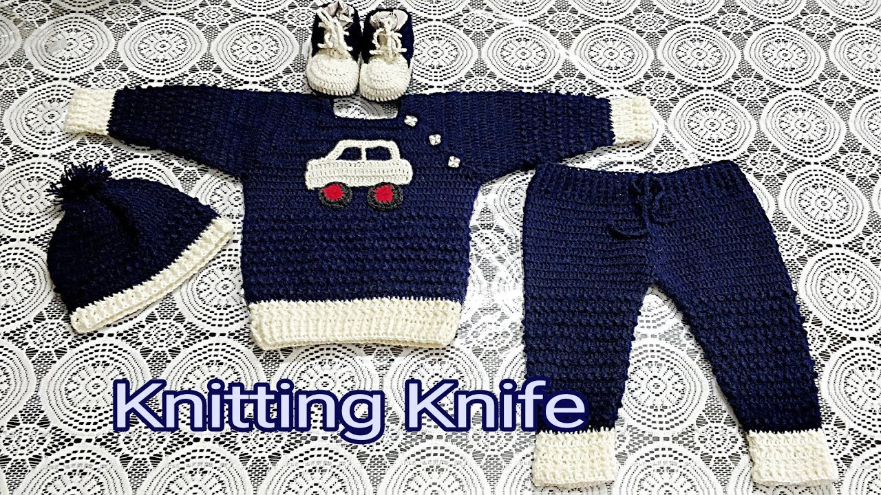 Crochet Baby Boy Full Suit Youtube