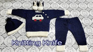 Crochet Baby Boy Full Suit.