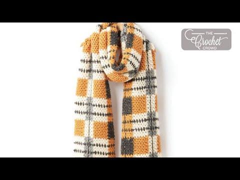 How To Crochet Tartan: Big Tartan Scarf