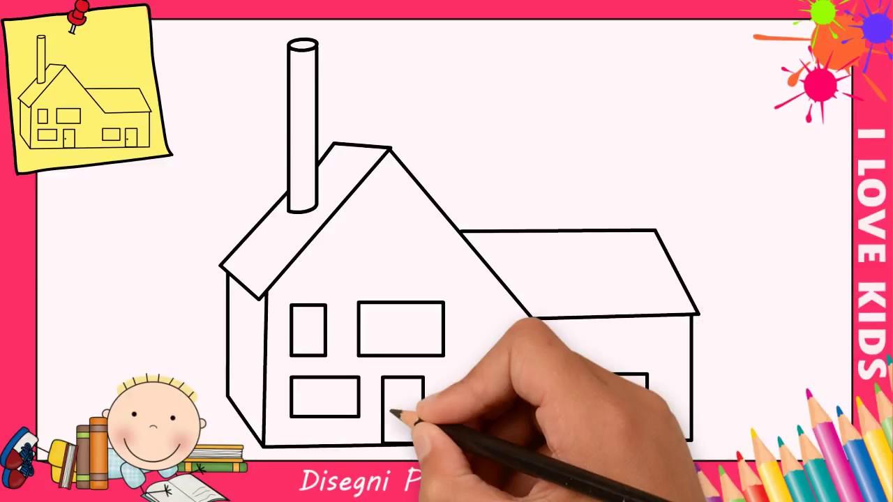 Disegni Di Case Facili Per Bambini Come Disegnare Una Casa Passo