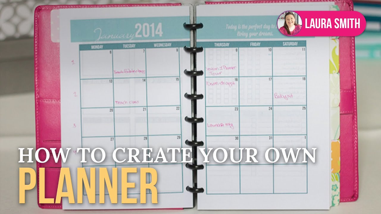 How to create your own planner checklist bookmark youtube for Design my own planner