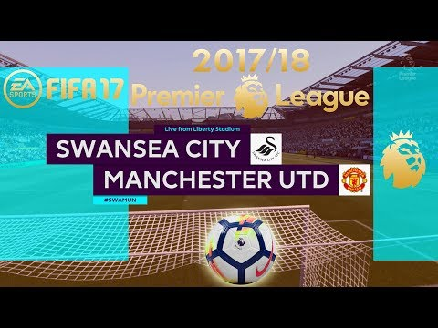 FIFA 17 | Swansea City vs Manchester United | Premier League 2017/18 | PS4 Full Gameplay