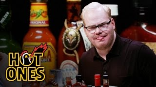 Download Jim Gaffigan Rediscovers His Flop Sweat Eating Spicy Wings | Hot Ones Mp3 and Videos