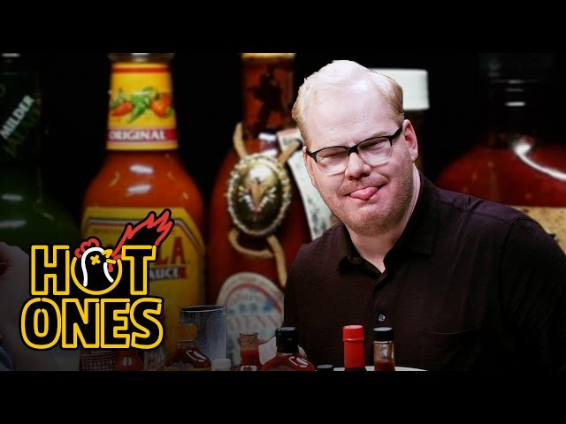 Jim Gaffigan Rediscovers His Flop Sweat Eating Spicy Wings   Hot Ones