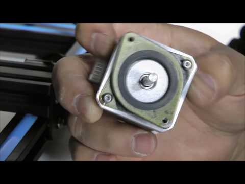Creality 3D CR-10 Hictop Stepper Motor dampers installation