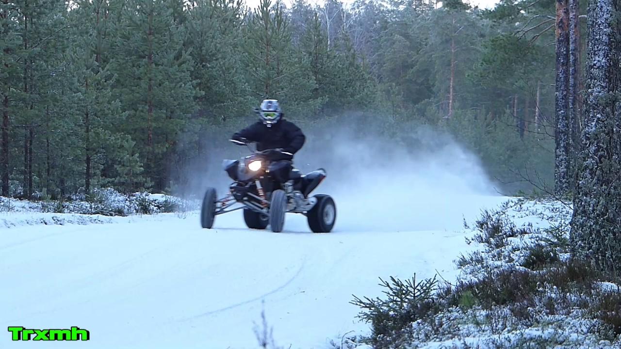 Polaris Outlaw 525 Top Speed Wiring Diagram Atv Winter Snow Riding Sliding Youtube 1280x720