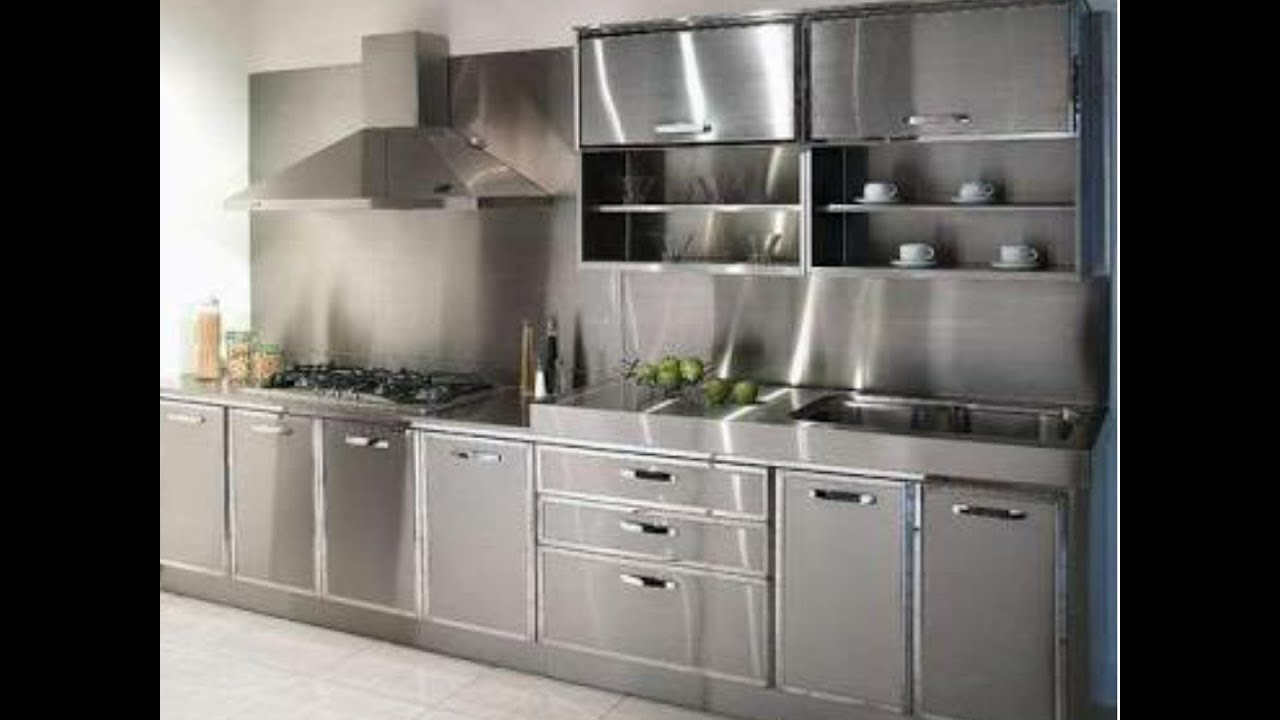 Top 10 stainless steel modular kitchen designs - YouTube