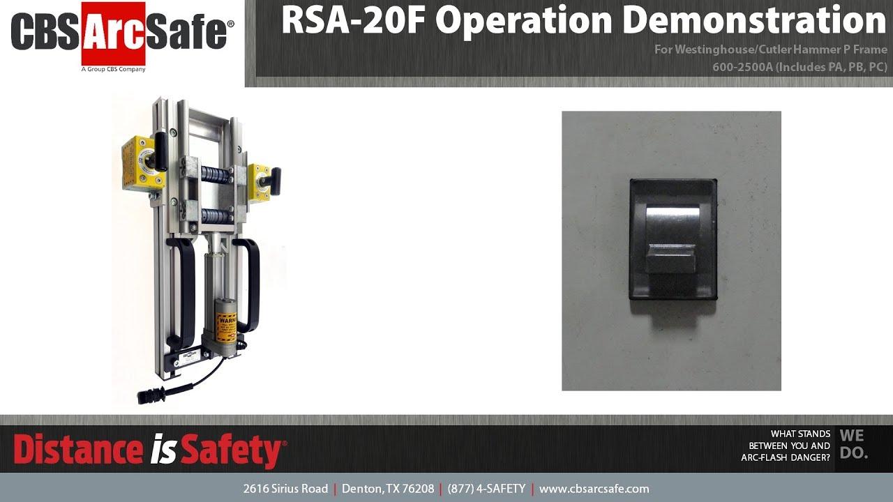 CBS ArcSafe® RSA-20F Operation Demonstration