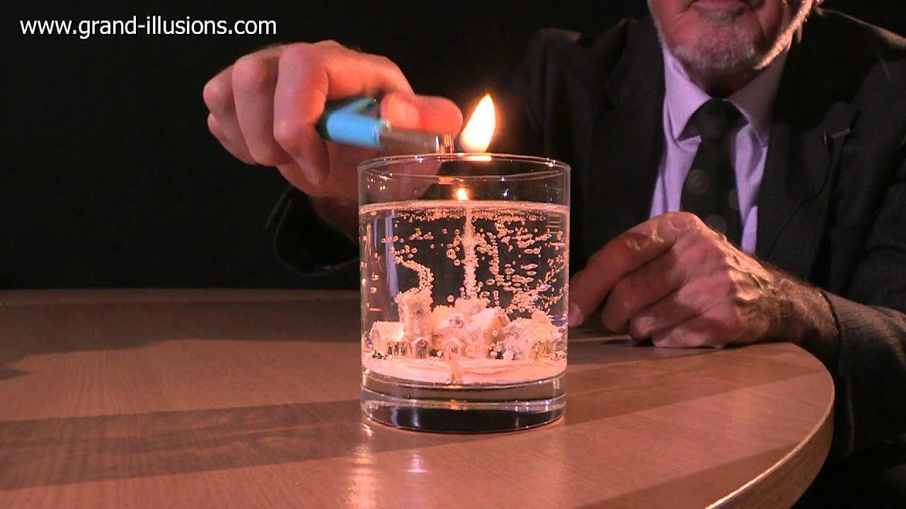 Winter Snowscene Gel Candle - YouTube
