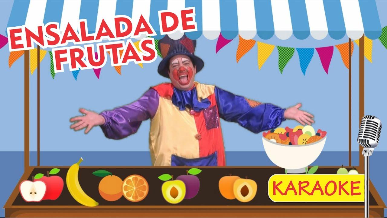 ENSALADA DE FRUTAS - KARAOKE (Video Oficial) - Payaso Chispita