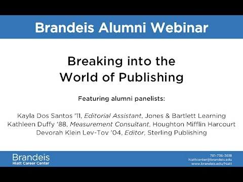 Breaking into the World of Publishing