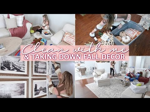 ULTIMATE CLEAN WITH ME 2019 - SPEED CLEANING MOTIVATION & TAKING DOWN FALL DECOR | Lauren Midgley