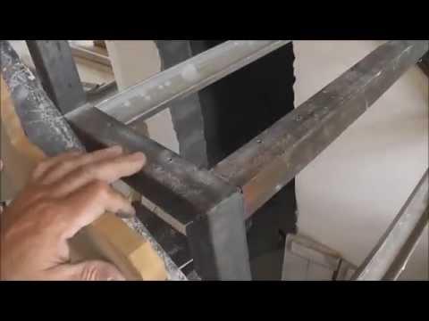 Деревянная лестница своими руками на металлическом каркасе